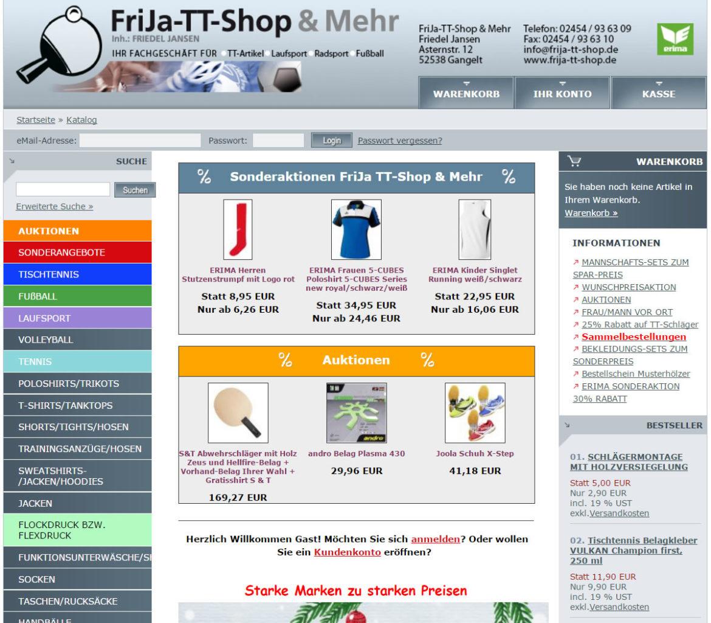 FriJa TT-Shop Tischtennisshop