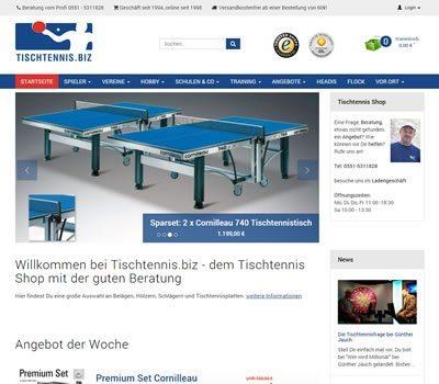 Tischtennisshop Tischtennis.biz