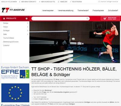 TT Shop.de Tischtennisshop